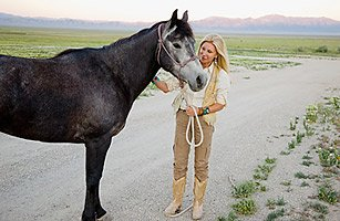 Madeleine Pickens, wife of billionaire T. Boone Pickens, on her ranch in Elko, Nev. She intends to turn the ranch, which already has 500 horses, into a wild-horse sanctuary